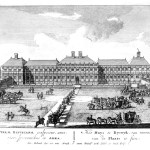 Print showing the symetrical nature of the palace and gardens