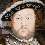 Oil painting of King Henry VIII showing a man wearing fine clothes including a hat.