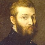 Dark oil painting of man with beard and dark clothing.