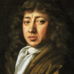Oil portrait of man with long hair.