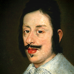 Oil portrait of moustached man with ruff.