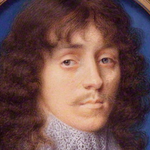 Painting of long haired man with ruff.