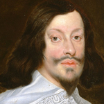 Oil portrait of long haired man with white shirt.